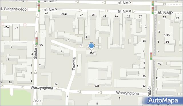 Częstochowa, Aleja Najświętszej Maryi Panny, 35A, mapa Częstochowy