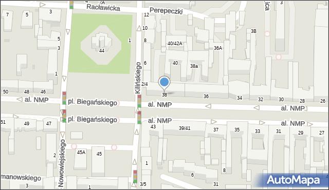 Częstochowa, Aleja Najświętszej Maryi Panny, 38, mapa Częstochowy