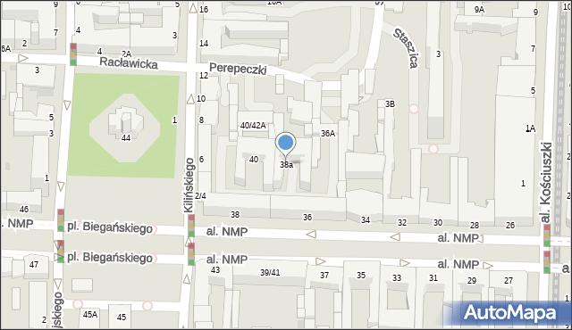 Częstochowa, Aleja Najświętszej Maryi Panny, 38a, mapa Częstochowy