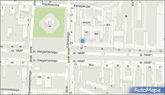 Częstochowa, Aleja Najświętszej Maryi Panny, 40/42, mapa Częstochowy