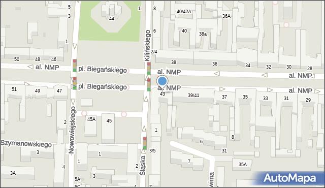 Częstochowa, Aleja Najświętszej Maryi Panny, 43, mapa Częstochowy