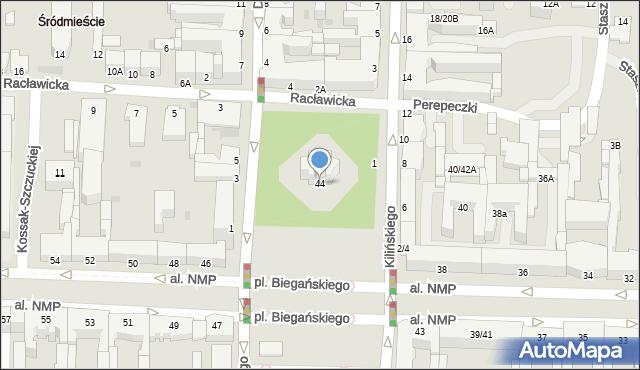 Częstochowa, Aleja Najświętszej Maryi Panny, 44, mapa Częstochowy