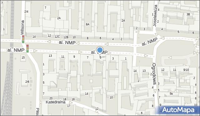 Częstochowa, Aleja Najświętszej Maryi Panny, 5, mapa Częstochowy