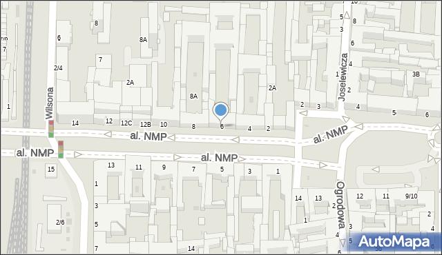 Częstochowa, Aleja Najświętszej Maryi Panny, 6, mapa Częstochowy
