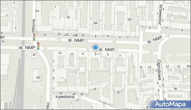 Częstochowa, Aleja Najświętszej Maryi Panny, 7, mapa Częstochowy