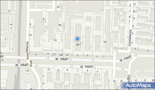 Częstochowa, Aleja Najświętszej Maryi Panny, 8A, mapa Częstochowy