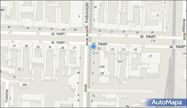 Częstochowa, Aleja Wolności, 1, mapa Częstochowy