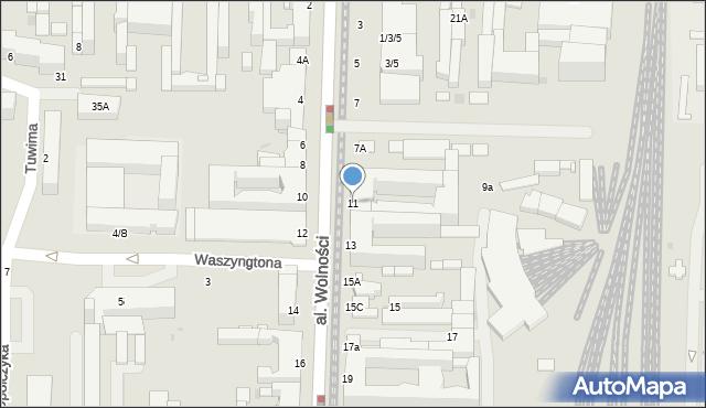 Częstochowa, Aleja Wolności, 11, mapa Częstochowy