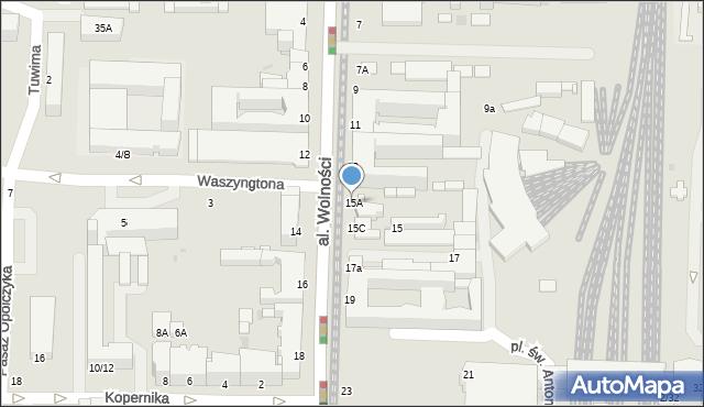Częstochowa, Aleja Wolności, 15A, mapa Częstochowy