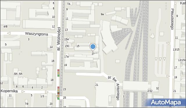 Częstochowa, Aleja Wolności, 17, mapa Częstochowy
