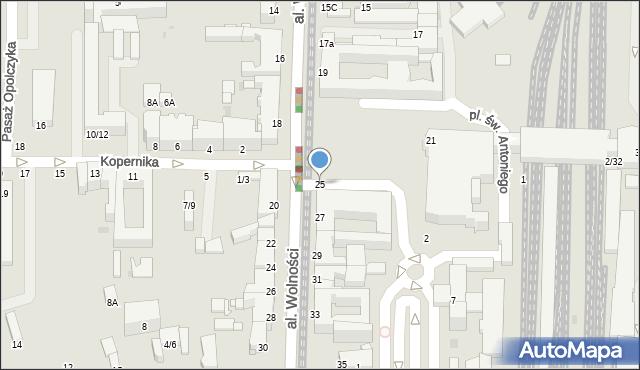 Częstochowa, Aleja Wolności, 25, mapa Częstochowy