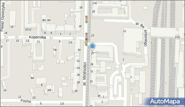 Częstochowa, Aleja Wolności, 27, mapa Częstochowy