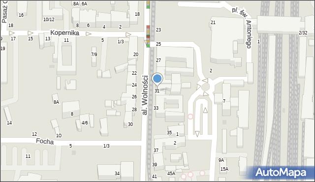 Częstochowa, Aleja Wolności, 31, mapa Częstochowy