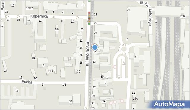 Częstochowa, Aleja Wolności, 31A, mapa Częstochowy