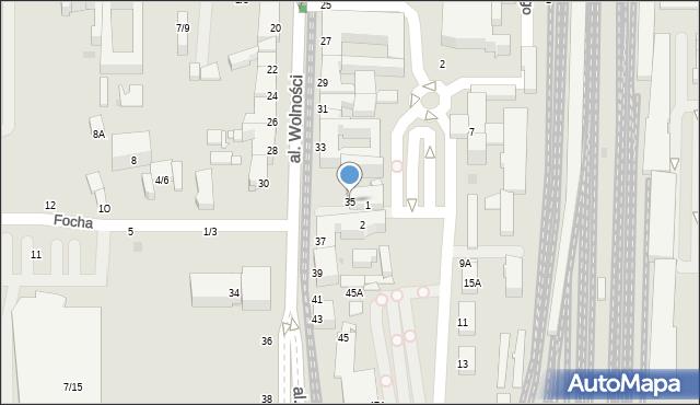 Częstochowa, Aleja Wolności, 35, mapa Częstochowy