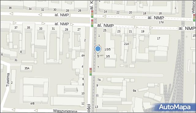 Częstochowa, Aleja Wolności, 5, mapa Częstochowy