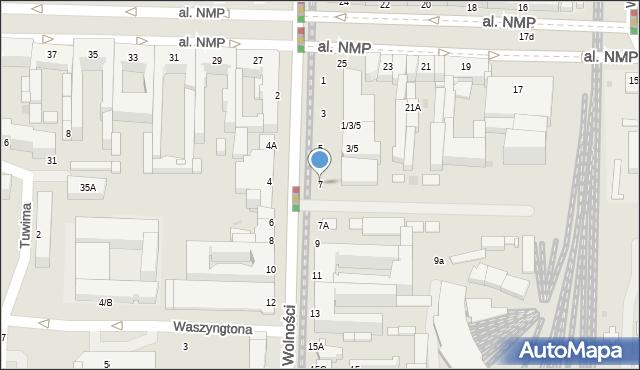 Częstochowa, Aleja Wolności, 7, mapa Częstochowy