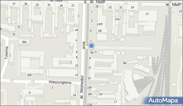 Częstochowa, Aleja Wolności, 7A, mapa Częstochowy