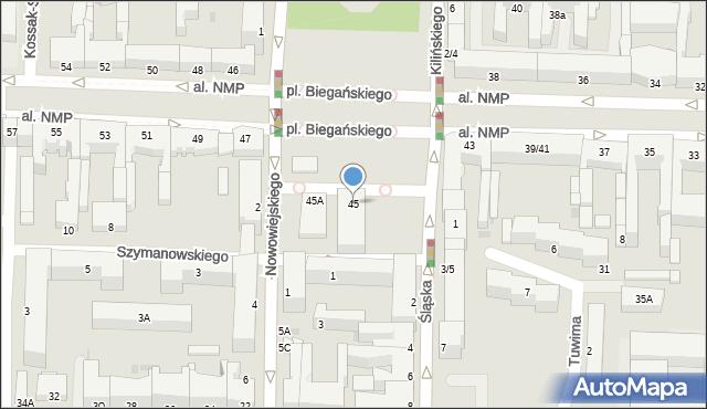 Częstochowa, Aleja Najświętszej Maryi Panny, 45, mapa Częstochowy