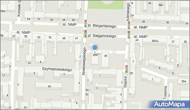 Częstochowa, Aleja Najświętszej Maryi Panny, 45A, mapa Częstochowy