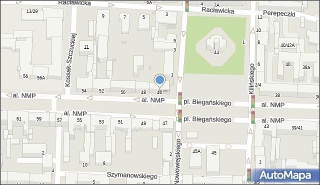 Częstochowa, Aleja Najświętszej Maryi Panny, 46, mapa Częstochowy