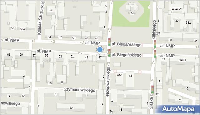 Częstochowa, Aleja Najświętszej Maryi Panny, 47, mapa Częstochowy