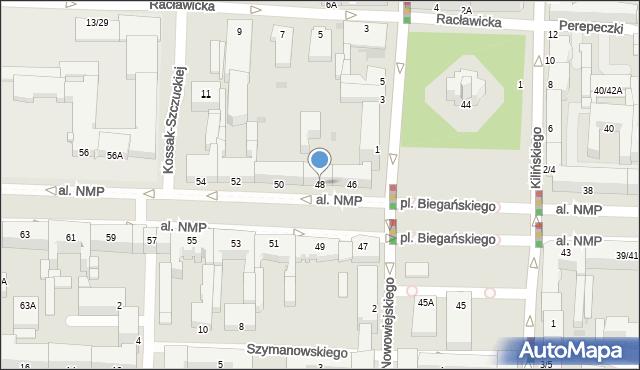 Częstochowa, Aleja Najświętszej Maryi Panny, 48, mapa Częstochowy