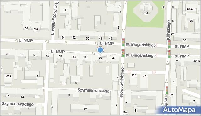 Częstochowa, Aleja Najświętszej Maryi Panny, 49, mapa Częstochowy