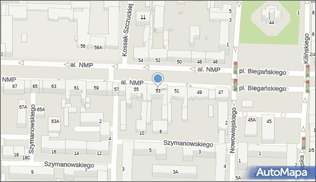 Częstochowa, Aleja Najświętszej Maryi Panny, 53, mapa Częstochowy