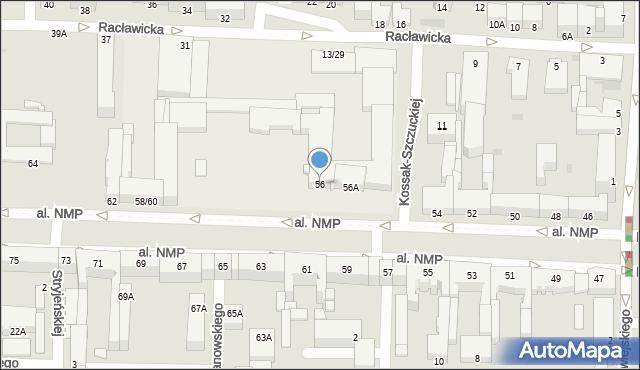 Częstochowa, Aleja Najświętszej Maryi Panny, 56, mapa Częstochowy