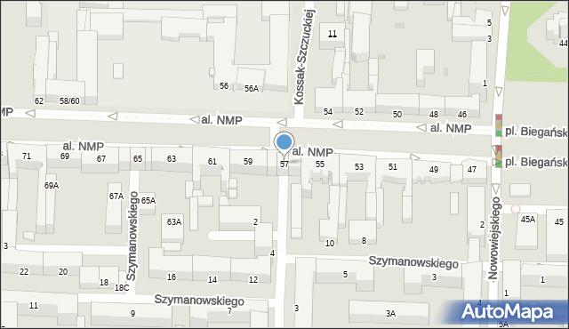 Częstochowa, Aleja Najświętszej Maryi Panny, 57, mapa Częstochowy
