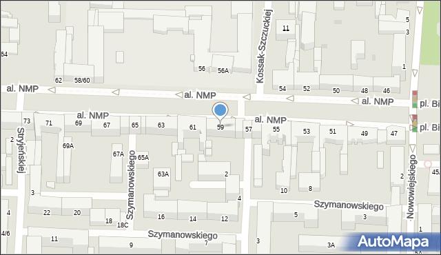 Częstochowa, Aleja Najświętszej Maryi Panny, 59, mapa Częstochowy