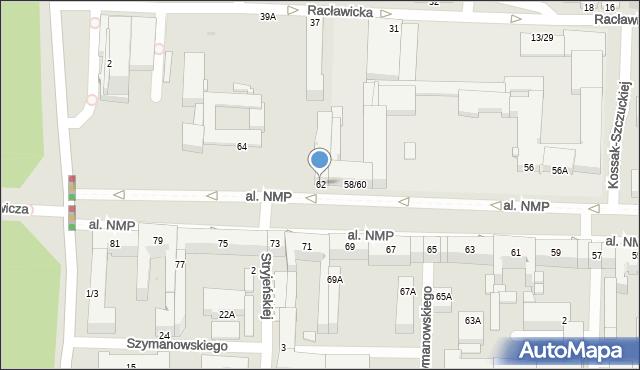 Częstochowa, Aleja Najświętszej Maryi Panny, 62, mapa Częstochowy