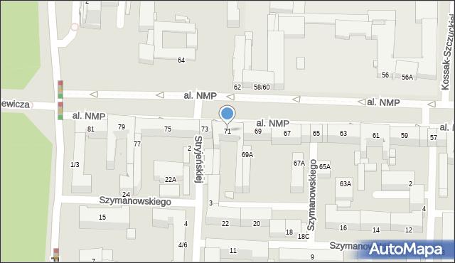 Częstochowa, Aleja Najświętszej Maryi Panny, 71, mapa Częstochowy