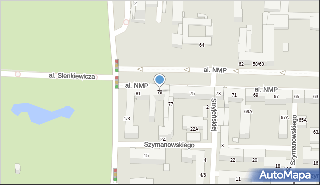 Częstochowa, Aleja Najświętszej Maryi Panny, 79, mapa Częstochowy