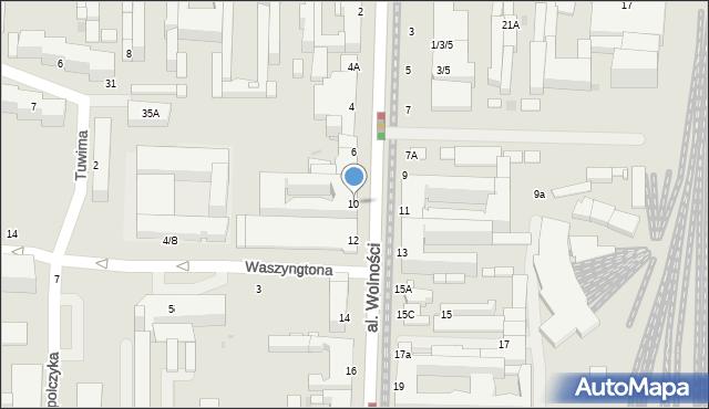 Częstochowa, Aleja Wolności, 10, mapa Częstochowy