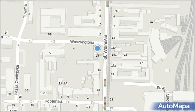 Częstochowa, Aleja Wolności, 14, mapa Częstochowy