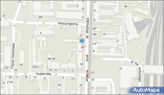 Częstochowa, Aleja Wolności, 16, mapa Częstochowy