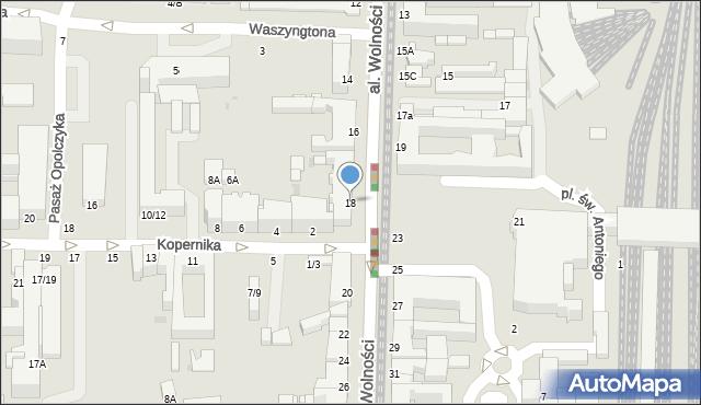 Częstochowa, Aleja Wolności, 18, mapa Częstochowy