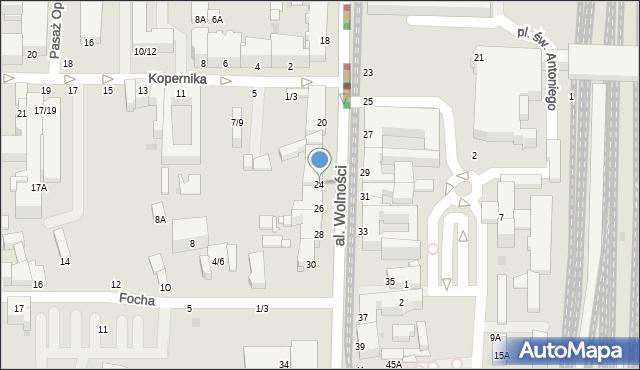 Częstochowa, Aleja Wolności, 24, mapa Częstochowy