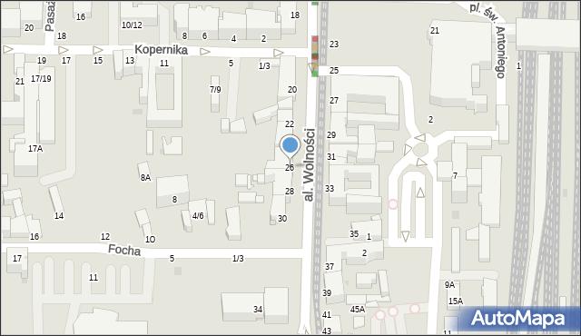 Częstochowa, Aleja Wolności, 26, mapa Częstochowy