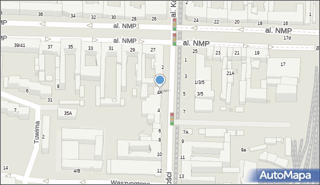 Częstochowa, Aleja Wolności, 4A, mapa Częstochowy