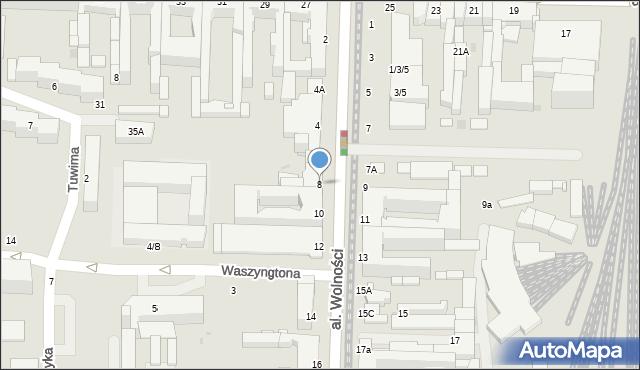 Częstochowa, Aleja Wolności, 8, mapa Częstochowy
