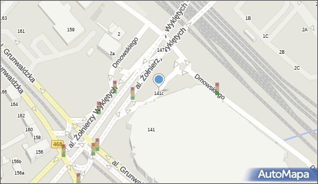 Gdańsk, Aleja Grunwaldzka, 141c, mapa Gdańska