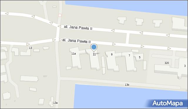 Gdynia, Aleja Jana Pawła II, 11, mapa Gdyni