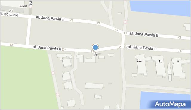 Gdynia, Aleja Jana Pawła II, 13, mapa Gdyni