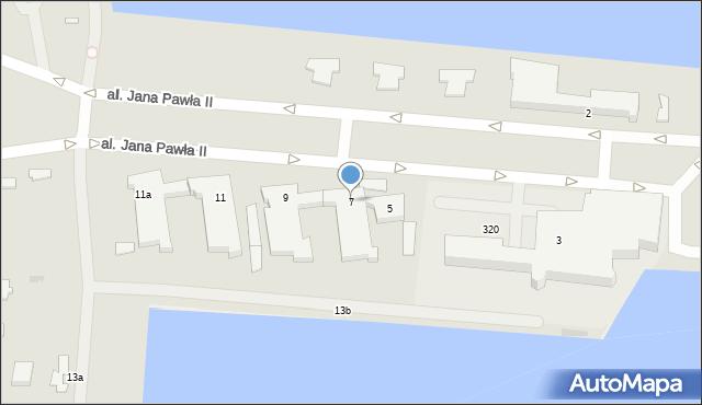 Gdynia, Aleja Jana Pawła II, 7, mapa Gdyni