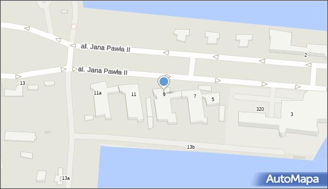 Gdynia, Aleja Jana Pawła II, 9, mapa Gdyni