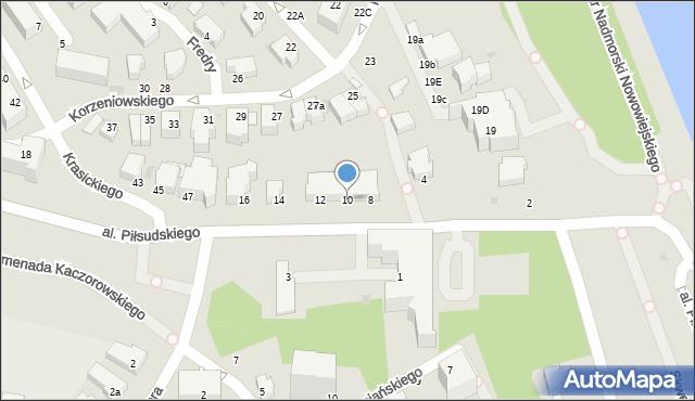 Gdynia, Aleja Piłsudskiego Józefa, marsz., 10, mapa Gdyni