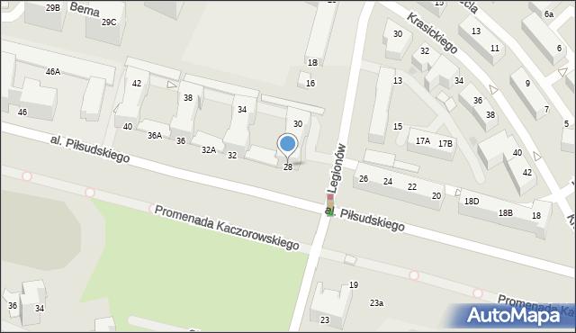 Gdynia, Aleja Piłsudskiego Józefa, marsz., 28/30, mapa Gdyni